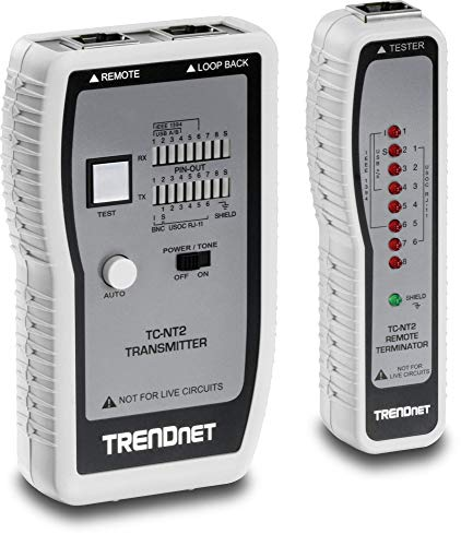 TRENDnet Network Cable Tester, Tests Ethernet/USB & BNC Cables,...