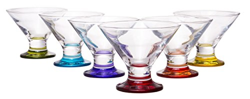 Coral Crema Savory Sweets Footed Ice Cream Bowl, Glass Dessert Cups...