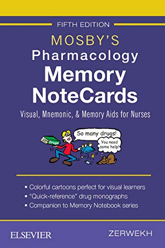 Mosby's Pharmacology Memory NoteCards: Visual, Mnemonic, and Memory...