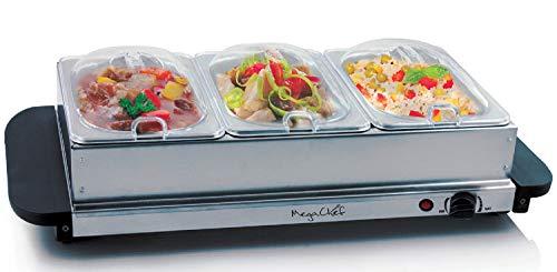Megachef Food Warmer Buffet Server, 21 Inch, Grey
