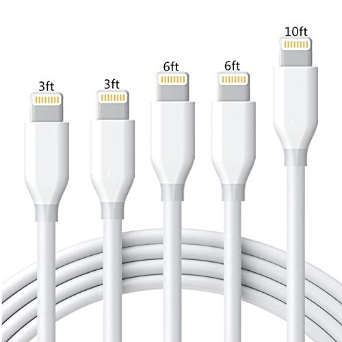 iPhone Charger Cable Sharllen Lightning Cable 5 Pack[3/3/6/6/10FT]...