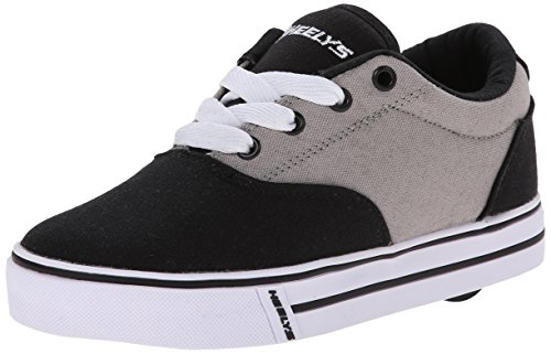 Heelys unisex-child Launch Skate Shoe, Grey/Black, 2 M US Little Kid