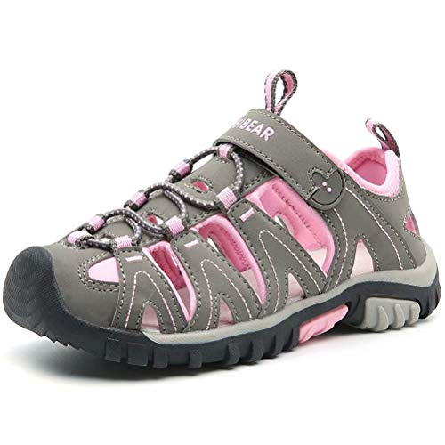 HOBIBEAR Big Girls Outdoor Closed-Toe Summer Youth Sport...