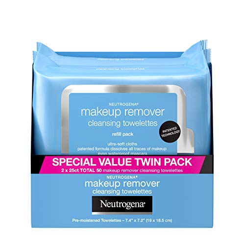 Neutrogena Makeup Remover Cleansing Face Wipes, Daily Cleansing Facial...