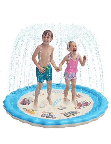 Sable Splash Pad, Sprinkler for Kids, 68 Inches Wading Pool for...