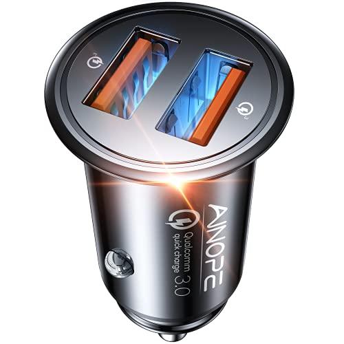 AINOPE USB Car Charger, [Dual QC3.0 Port] 36W/6A [All Metal] Fast Car...