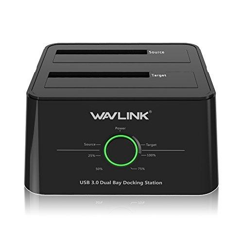 WAVLINK USB 3.0 to SATA I/II/III Dual-Bay External Hard Drive Docking...