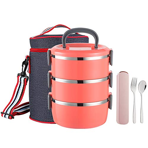 YBOBK HOME Bento Lunch Box, Stackable Insulated Leak Proof Stainless...