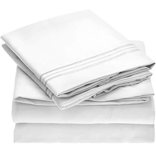 Mellanni Bed Sheet Set - Brushed Microfiber 1800 Bedding - Wrinkle,...