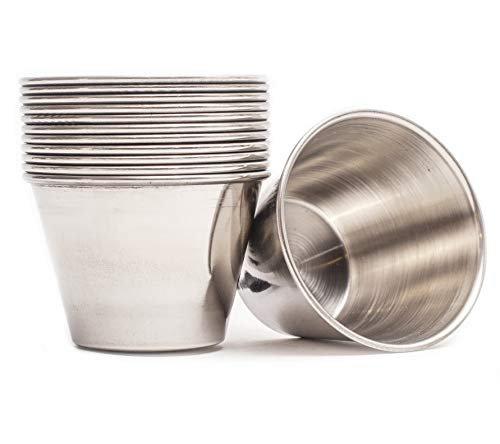 ehomeA2Z Ramekin Stainless Steel Condiment Sauce Cups Au Jus...