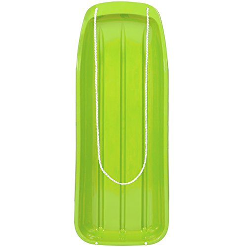 Best Choice Products 48in Kids Plastic Toboggan Snow Sled w/Pull Rope,...