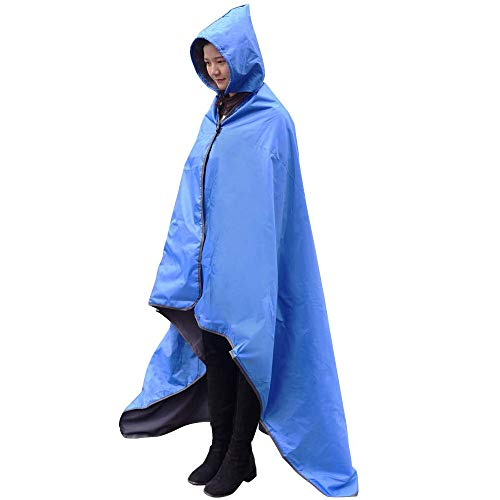 FANCYWING Hooded Stadium Blanket, Waterproof Windproof Outdoor Fleece...