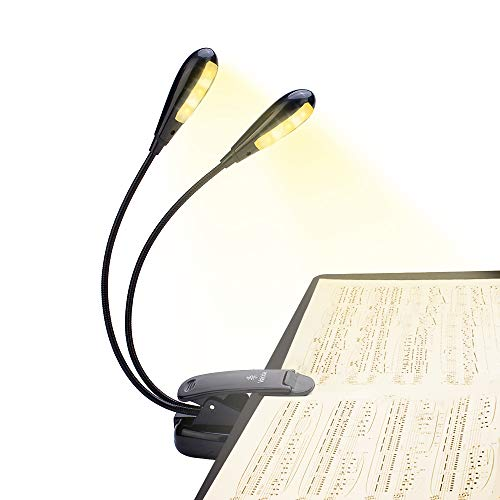 10 LED Eye-Cared Music Stand Light, 3 Brightness×3 Color Book Light,...
