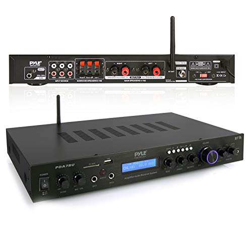 Pyle - 5 Channel Rack Mount Bluetooth Receiver, Home Theater Amp,...