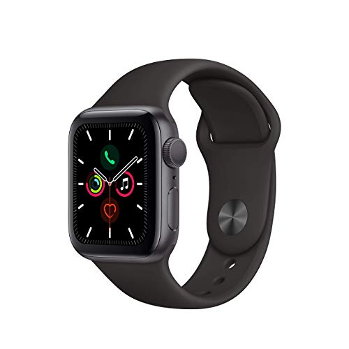 Apple Watch Series 5 (GPS, 44MM) - Space Gray Aluminum Case with Black...
