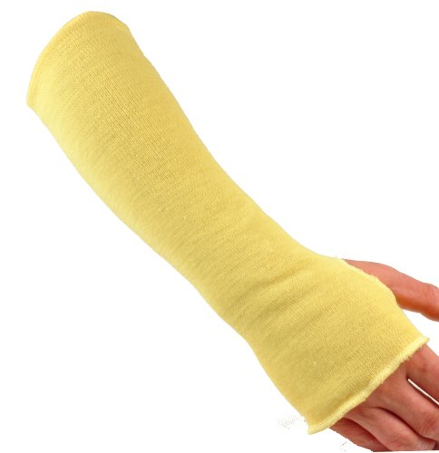 G & F 58123-6 100% Kevlar 18-Inch Cut Resistant Knit Sleeve with Thumb...