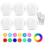 Cadrim Puck Lights, LED Color Changing Puck Lightings and Dimmable...