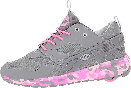 Heelys Girl's Force (Little Kid/Big Kid/Adult) Grey/Pink Confetti 8...