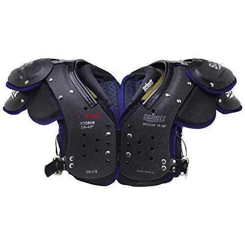 Schutt Sports Varsity O2 Maxx QB/WR Shoulder Pad, Black/Purple,...
