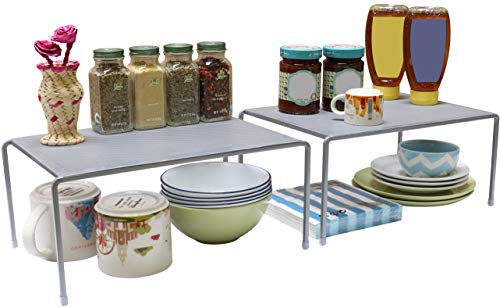 DecoBros Expandable Stackable Kitchen Cabinet and Counter Shelf...