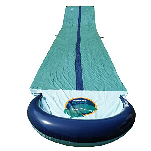 TEAM MAGNUS Slip and Slide XL - Inflatable Crash pad and Central Spray...