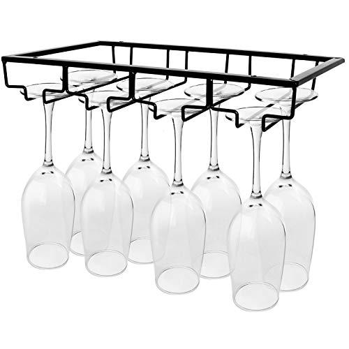 Gonioa Wine Glass Holder - Stemware Rack Under Cabinet Metal Wine...
