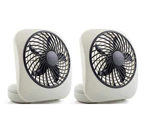 O2COOL Treva 5-Inch Portable Desktop Air Circulation Battery Fan | 2...