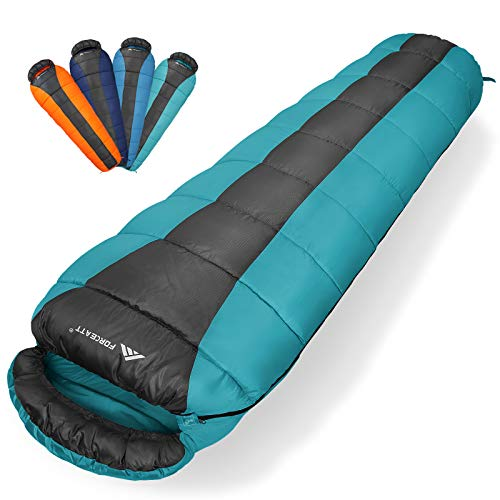 Forceatt Mummy Sleeping Bag for 3 Season(Summer, Spring, Fall) Warm &...