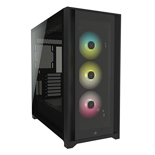 Corsair iCUE 5000X RGB Tempered Glass Mid-Tower ATX PC Smart Case -...