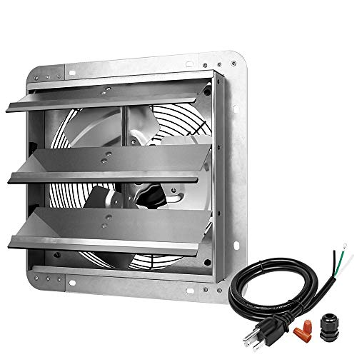 iPower 12 Inch Shutter Exhaust Fan Aluminum High Speed 1620RPM, 940...