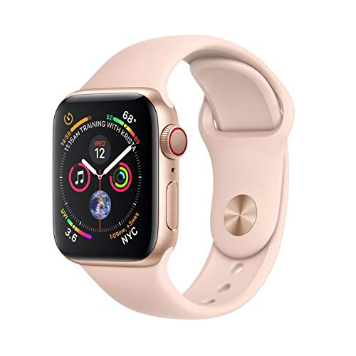 Apple Watch Series 4 (GPS + Cellular, 40MM) - Gold Aluminum Case with...