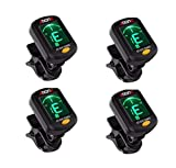 Clip On Guitar Tuner For All Instruments, Ukulele, Guitar, Bass,...