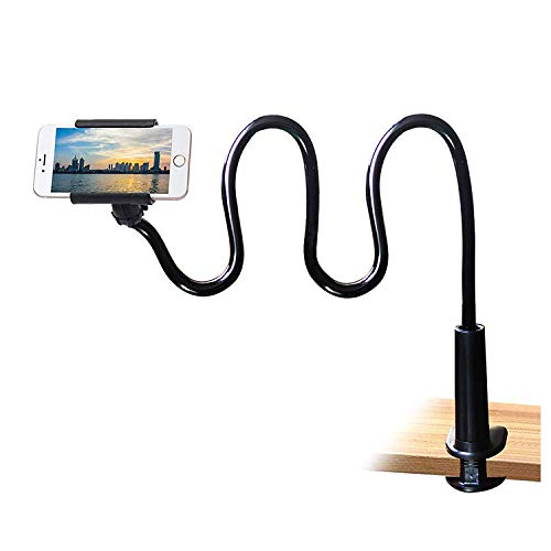 Cell Phone Clip on Stand Holder - with Grip Flexible Long Arm...