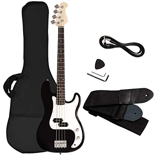 Goplus Electric Bass Guitar Full Size 4 String with Strap Guitar Bag...