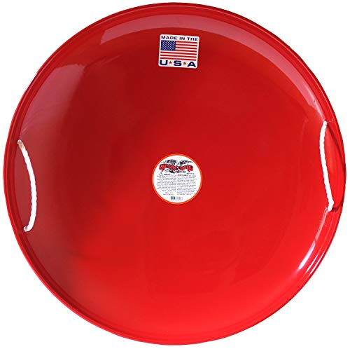 Flexible Flyer Metal Snow Disc Saucer Sled. Steel Sand Slider