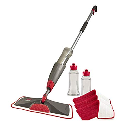 Rubbermaid Reveal Spray Microfiber Floor Mop Cleaning Kit for Laminate...
