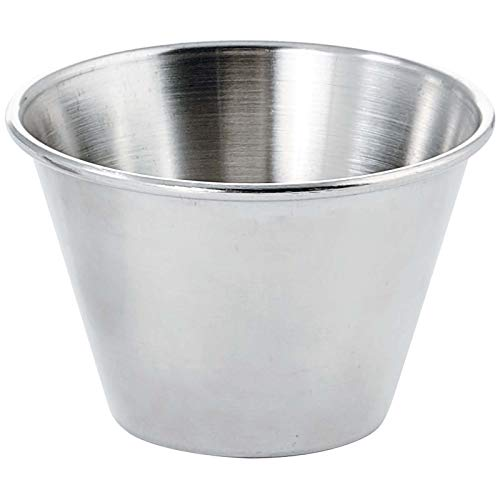 Winco SCP-40, 4-Ounce Stainless Steel Round Ramekin Condiment Sauce...
