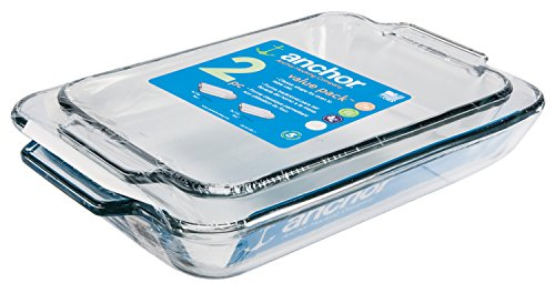 Anchor Hocking Oven Basics Glass Baking Dishes, Rectangular Value...
