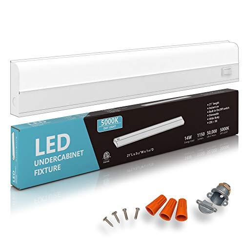 Hardwired LED Under Cabinet Task Lighting - 14 Watt, 21', Dimmable,...