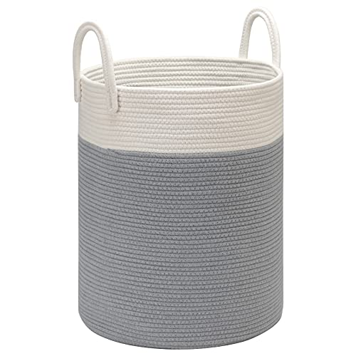 DOKEHOM X-Large Storage Baskets -15.7(D) x 19.7(H) Inches- Cotton Rope...