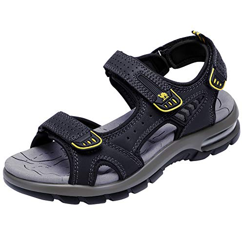 CAMEL CROWN Men's Leather Sandals Summer Athletic Sandals Air Cushion...
