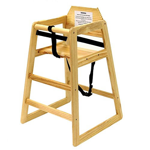 TableCraft Products 65 High Chair, Natural, Unassembled