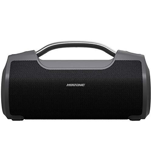 MIATONE 60W Portable Speaker with Titanium Subwoofer, Wireless Outdoor...