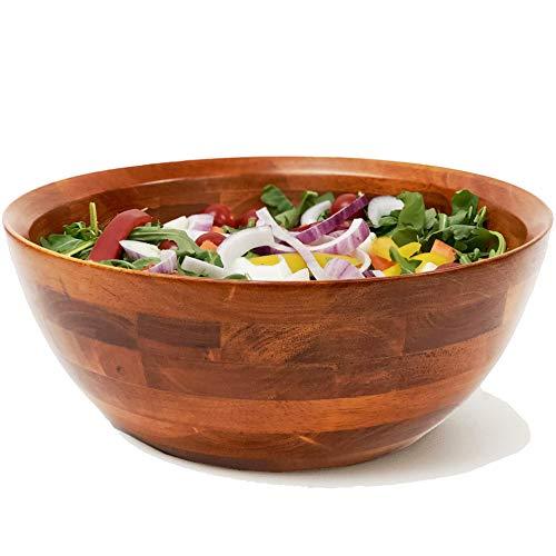 Woodard & Charles Large Wooden Serving Bowl for Salads, Fruits,...