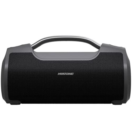 MIATONE 60W Portable Bluetooth Speaker with Titanium Subwoofer,...