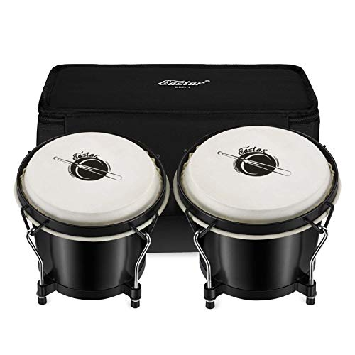 """Eastar EBO-1 Bongo Drums 2 Sets 6"""" and 7"""" Wood Percussion..."""