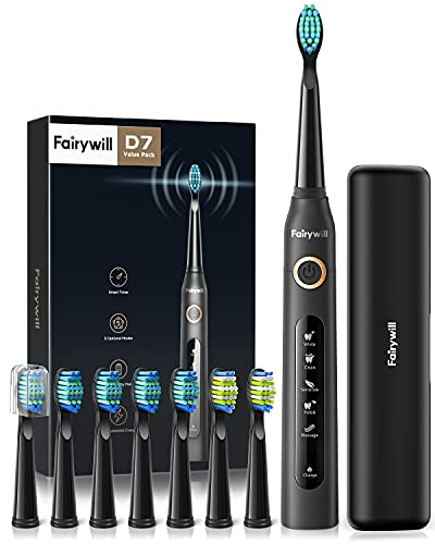 Fairywill Electric Toothbrush Powerful Sonic Cleaning, ADA Accepted...