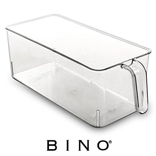 BINO Refrigerator, Freezer, Kitchen Pantry Cabinet Organizer Plastic...