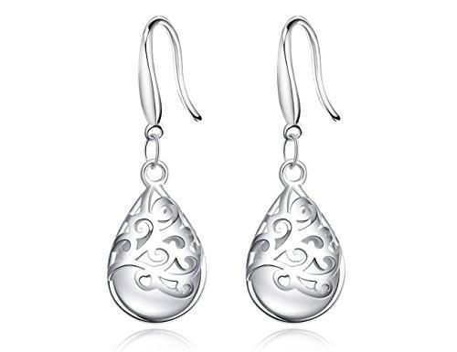 Wishing Tree 925 Sterling Silver Filigree Drop Dangle Earrings for...
