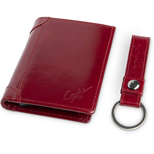 RFID Bifold Genuine Leather Wallets for Men and Women Black or Cherry...